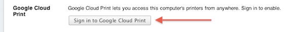 Kirjaudu Google Cloud Print -palveluun